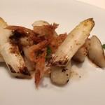 レストラン ル ボヌール - 主菜1:ホワイトアスパラ