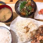 豊後酒場 - 鷄炭焼定食 880円+税