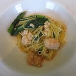RISTORANTE INCROCI - エビのラグーと小松菜のオイルパスタ
