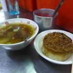 108353615 - 排骨酥湯と竹筒米、いただきまーす!