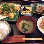 お食事処 よしの - 料理写真:あなご天のねぎ醤油定食(¥800)