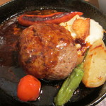 つきじ川食堂ひさ野 - 特製ハンバーグステーキ