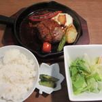 つきじ川食堂ひさ野 - 特製ハンバーグステーキ 1100円
