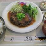 108365699 - ジャンボハンバーグ定食(全景)