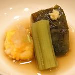 味享 - 賀茂茄子の炊き合わせ