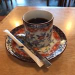 後楽園そば - サービスのコーヒー