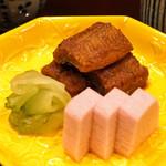 味享 - 鰻の山椒煮と山芋の紫蘇漬け、浅瓜漬