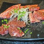 焼肉牛ヒレ - 赤身3点盛り
