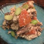 縁の鈴なり - 裏漉し豆腐ではなく、炒り豆腐のようにころころした豆腐。胡麻の風味がいい。