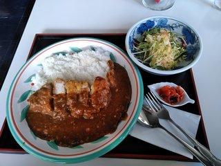喫茶 ひだまり - カツカレー(サラダ付き)