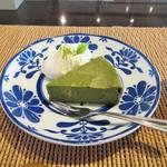 まのび堂 - 抹茶と豆腐のガトーショコラ。350円