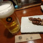 やきとり山平 - 生ビール追加