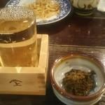 そば七 - 日本酒一合 700円
