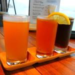 miyajimaburuwari- - 地ビール3種飲み比べ