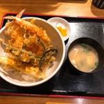 田舎亭 - 天こもり海老天丼 タレが美味しい