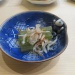 鮨 島本 - 蕗とシラスのお浸し