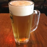 串かつ でんがな - 「おつかれさまセット」の生ビール。