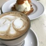グッドモーニングカフェ - カプチーノ。ぬるい