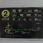 中華そば麦右衛門 - 山崎行きに乗ります