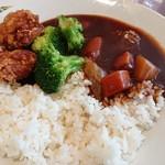 イケア レストラン - 無添加野菜カレー(299円)&かあちゃんの唐揚げ(60円×2個)