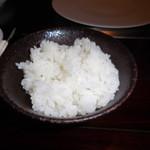 六本木モンシェルトントン -  魚沼産コシヒカリご飯です。