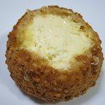 フランス菓子 果摘 - 果摘クッキーシュー中身 クリームがあふれそう