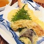 幸寿司 - ●油物  海老、南瓜、大葉、茄子、ズッキーニ、蓮根