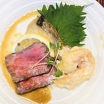 幸寿司 - ●ローストビーフ、海老のマヨネーズ和え サワラの西京焼き