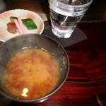 六本木モンシェルトントン -  お味噌汁です。