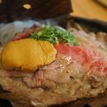 絶景レストラン うずの丘 - 淡路牛のうに味噌ほう葉焼き
