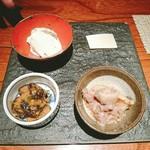 108469502 - 菜(しいたけ味噌、シソ豆腐、比内地鶏アキレス)