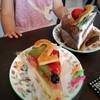 ア・ラ・カンパーニュ - 料理写真:フルーツケーキ(手前)には通常は数字のクッキーは乗っていません。