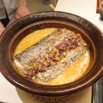 山﨑 - 料理写真:車海老の出汁のおじやに太刀魚ときゅうり古漬け