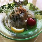 うちげの料理 八塩 - 新タマワカメのサラダ