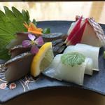 うちげの料理 八塩 - さごし、白いか、タイ