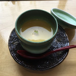 うちげの料理 八塩 - 長イモのクズ豆腐が入った茶碗蒸し