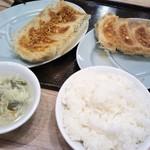 ぎょうざ大好 - 料理写真:餃子とライス