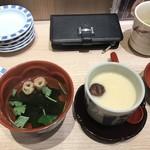 寿司 藤けん鮮魚店 博多阪急 - 茶碗蒸しと吸い物!