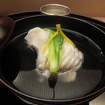 割烹 喜作 - アイナメの椀物