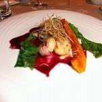 レストランブレ - 料理写真:ホタテとカジカのポワレ