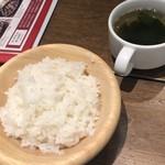 108501073 - ご飯とスープ