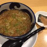 鶏そば一休 - 料理写真:つけ麺のタレ(魚粉別皿) サッパリしてます
