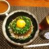 おとなのヒッコリー - 料理写真:ジャーマンハンバーグ丼1230円、スープ、+100円で、アイスティー♪