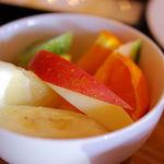 スイジガイ カフェ - ランチデザート。フルーツ盛り合わせでした~