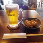蕎麦+酒=雲母 - 生ビール