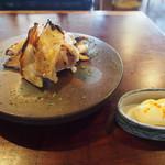 蕎麦+酒=雲母 - 超肉厚エイヒレ炙り