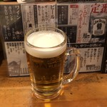 立ち呑み処。 宴 - この時間帯には麗しの生ビール。