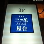 三ツ星屋台 - ナナロクビルの1Fに出ている、お店の看板です。