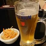 個室居酒屋 卯之屋 赤坂見附店 - 生ビールとお通しのきんぴら