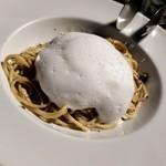 sumile TOKYO - ブラウンマッシュルームのクリームソース ミルクのフォーム添え 1800円